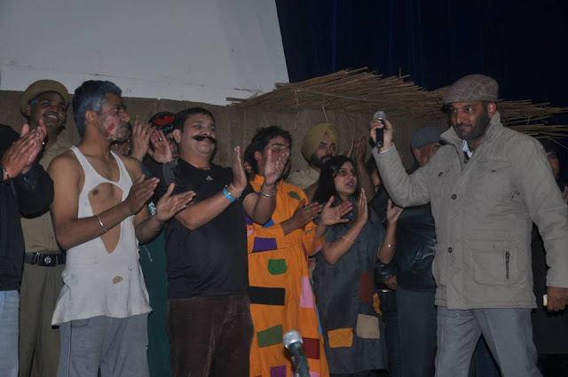 Tarlochan Singh with his Drama Team Rang Manch Rang Nagari