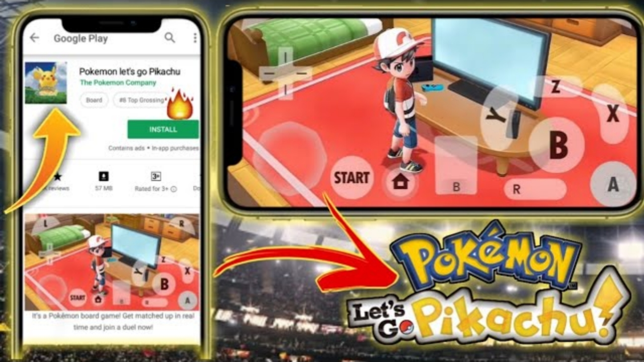 Pokemon Let's Go Pikachu || APK Download Link || Play On