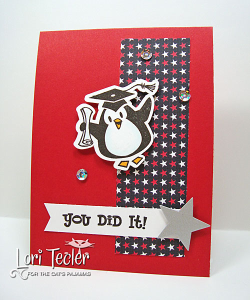 You Did It card-designed by Lori Tecler/Inking Aloud-stamps from The Cat's Pajamas