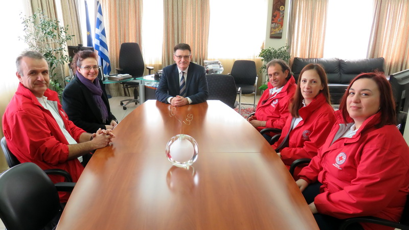 Συνάντηση Πέτροβιτς με μέλη του Δ.Σ. του Παραρτήματος Αλεξανδρούπολης του Ελληνικού Ερυθρού Σταυρού