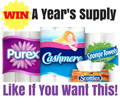 WIN a Years Worth of Name Brand Tissue Products