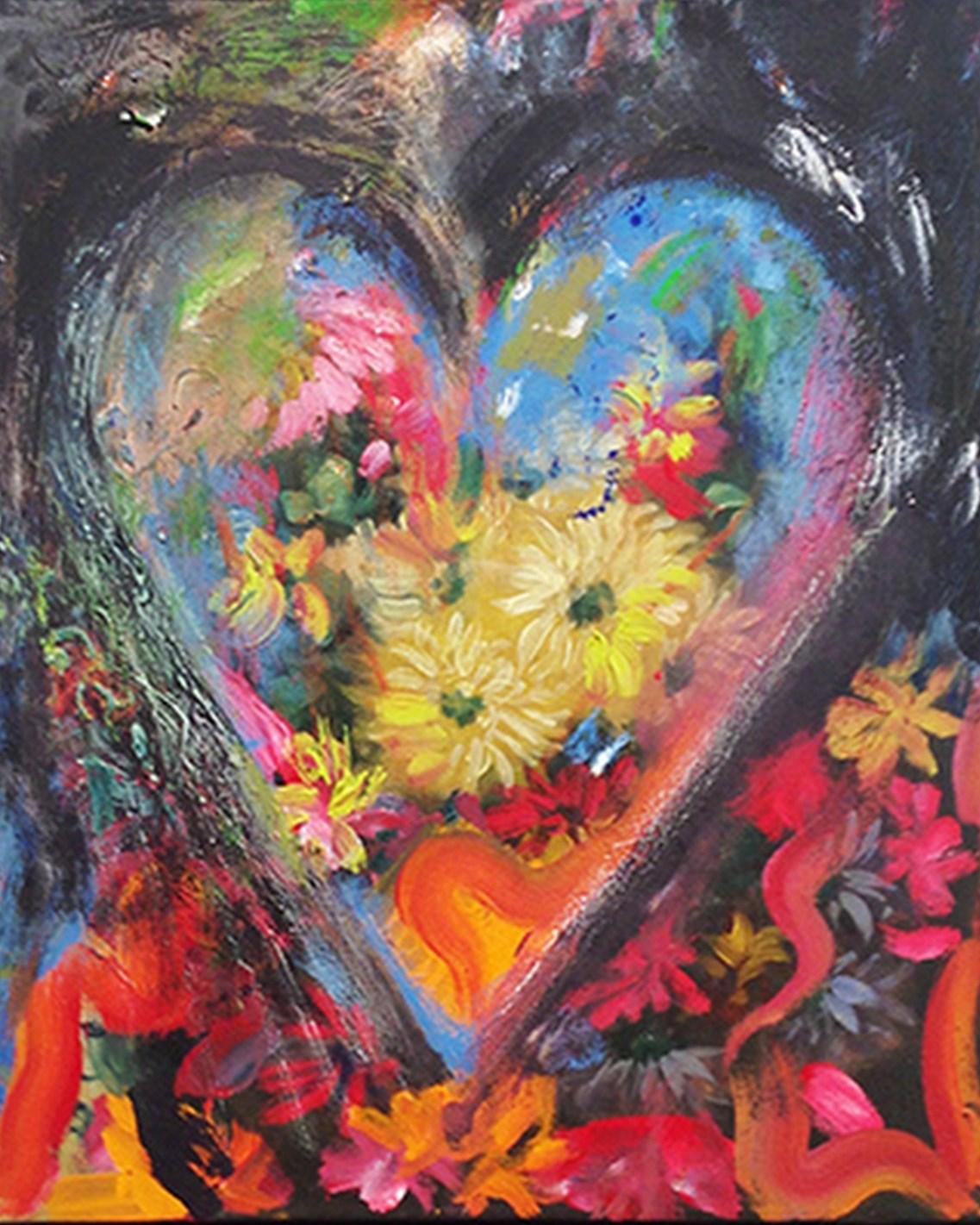 Cuadros modernos pinturas y dibujos el coraz n del arte for Imagenes de cuadros abstractos faciles