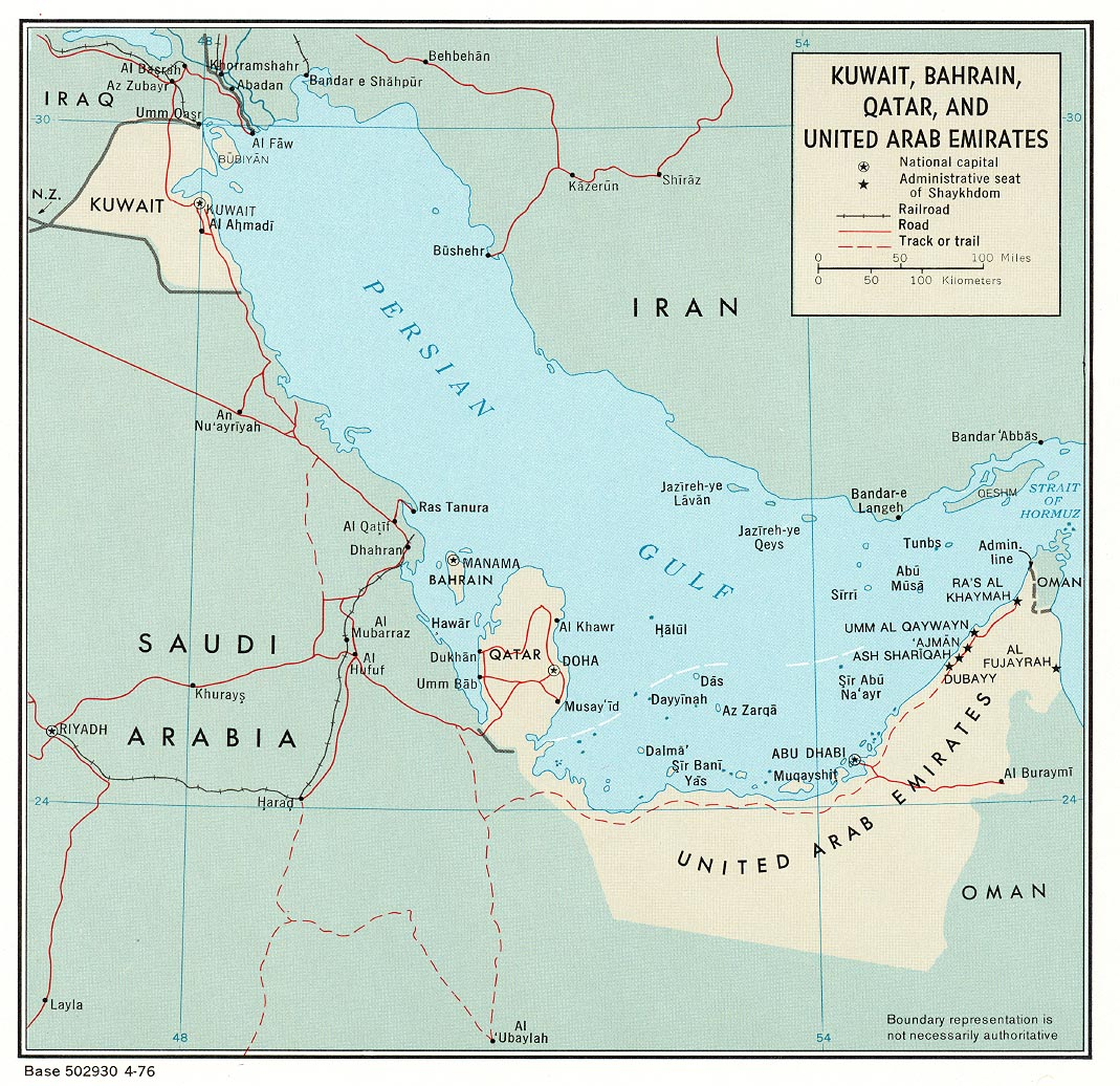 Katar Politische Landkarte Mit Der Hauptstadt Doha Nationale