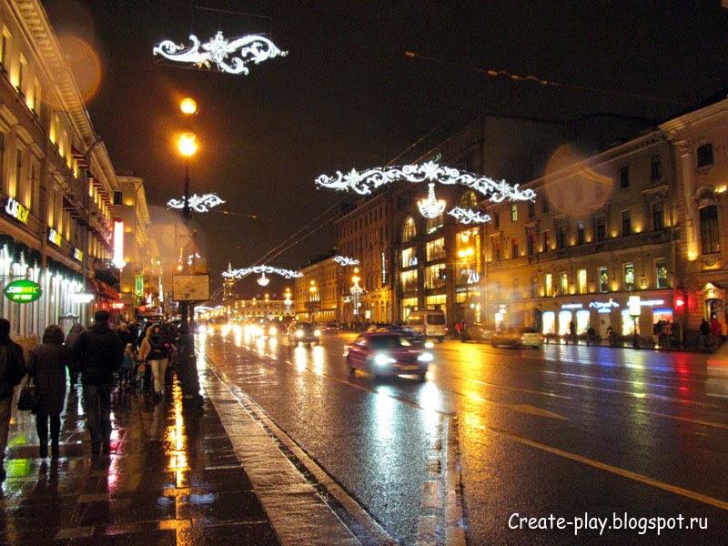 Невский проспект зимой