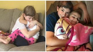Αδέλφια παλεύουν μαζί τον καρκίνο και μια φωτογραφία τους που είναι αγκαλιασμένα προκαλεί ρίγη συγκίνησης!