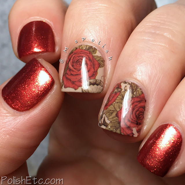 Red Nails for the #31DC2018Weekly - McPolish - AEngland Gloriana