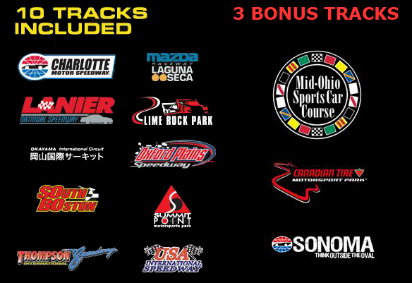 13 FREE Tracks Included in Free iRacing Offer