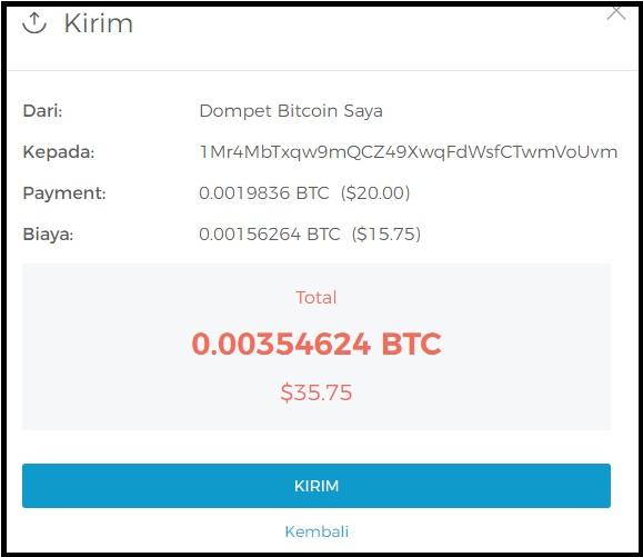 Mencairkan  Bitcoin ke Dollar sampai Ke rekening Bank Lokal Mahal