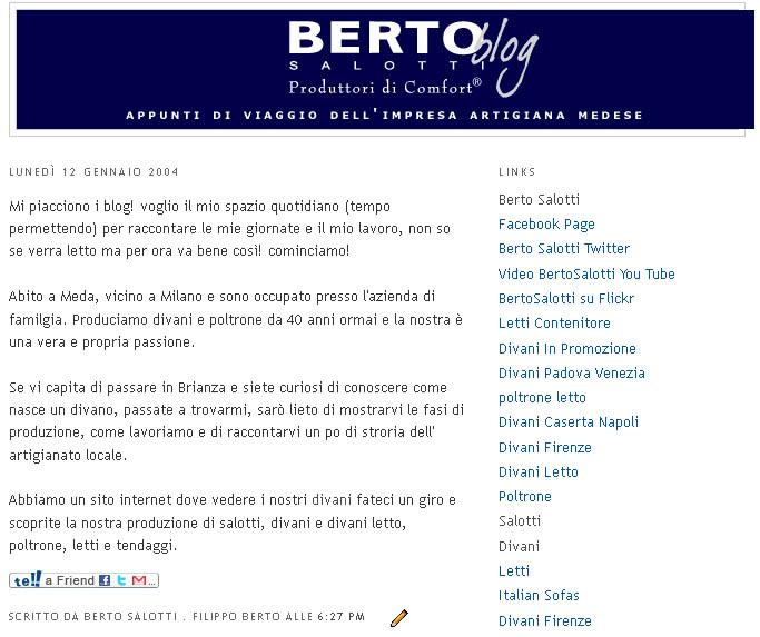 Berto Salotti Firenze.Berto Salotti Blog 2011