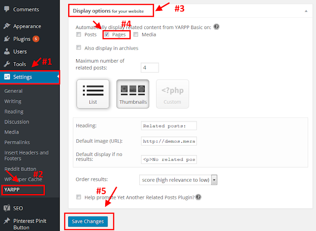 add related pages widget in wordpress