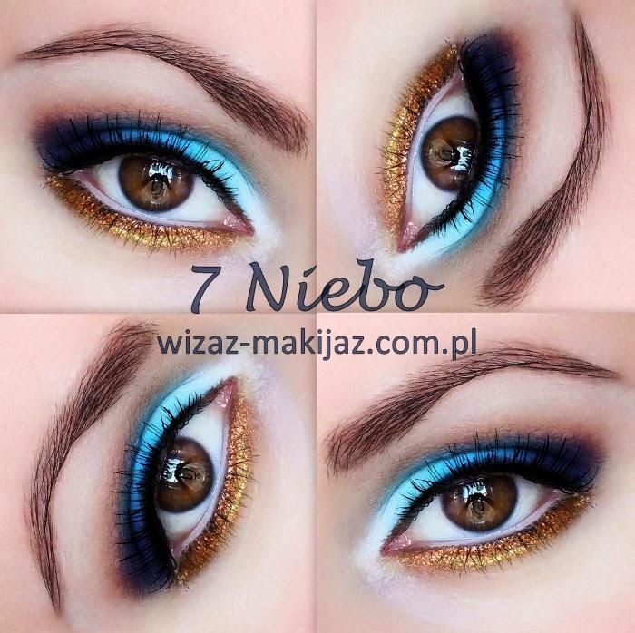 7 Niebo Wizaż Rybnik Makijaż Oczu Odcienie Niebieskiego Z