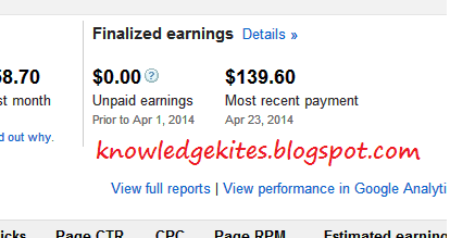 adsense Payment in progress step 1