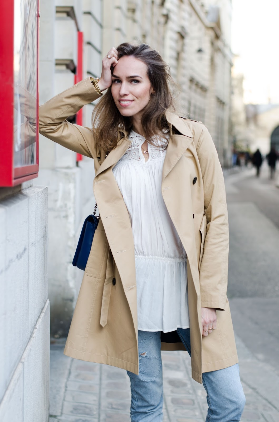 kristjaana mere trench coat spring outfit