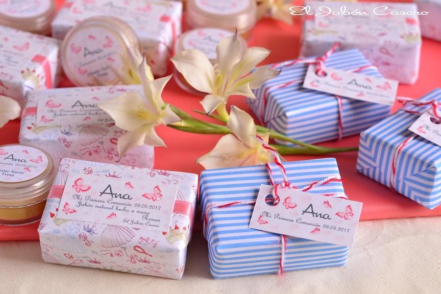 Detalles de  comunion boda para hombres y mujeres jabones artesanales personalizados