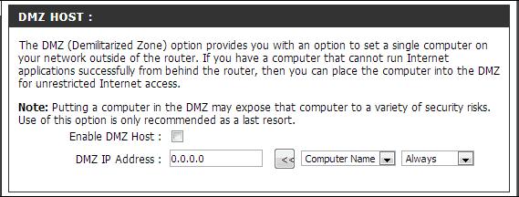 opcion para abrir puertos en router