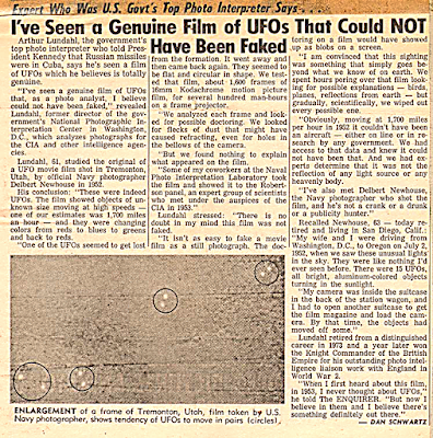 CIA Photo Analyst Authenticates UFO Film – 1976