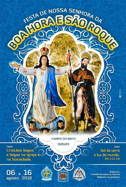 Cartaz Festa de Nossa Senhora da Boa Hora e São Roque - 2018