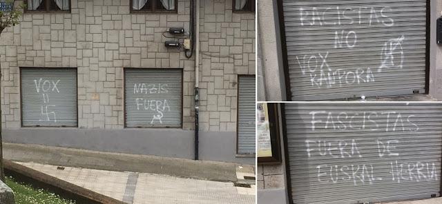 pintadas contra Vox en local de Hijos de Jaén