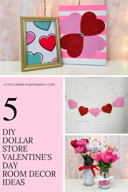 5 DIY Dollar Store Valentine's Day Room Decor Ideas