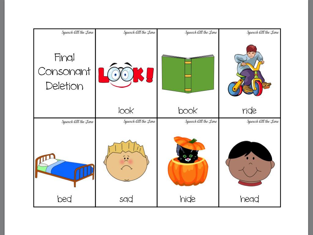 Worksheet Final Consonant Deletion Worksheets Worksheet Fun Worksheet Study Site