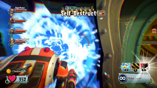 Plants vs. Zombies: Garden Warfare 2 escape self-destruct