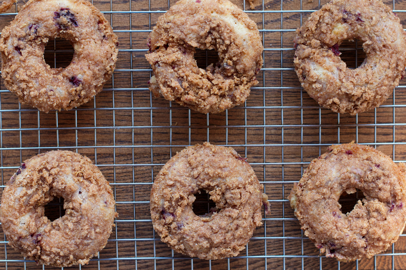 Blackberry Crumble Donuts || A Less Processed Life