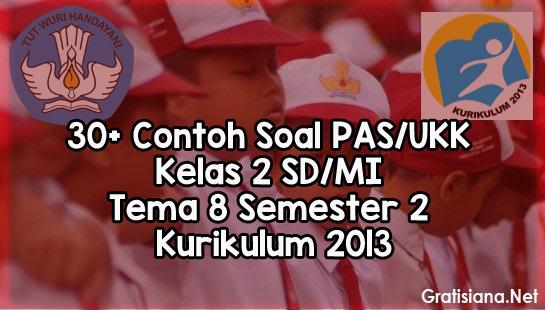Contoh Soal PAS/UKK Kelas 2 SD/MI Tema 8 Semester 2