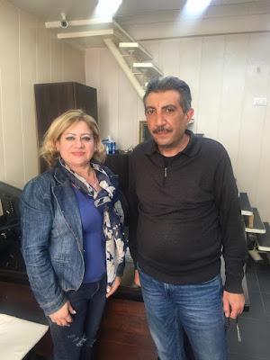 ندى بغدادي تشكر هيثم الكوش على مبادرته ومساعداته لجمعية الندى للعطاء الخيرى بلبنان