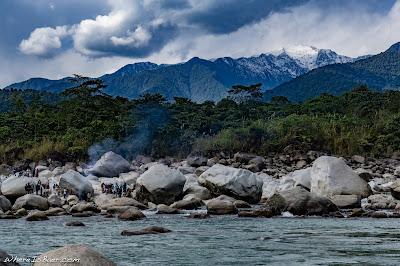 river kayaking tributarty siang river arunachal Pradesh Himalayas, kayak fire locals, WhereIsBaer.com Chris Baer