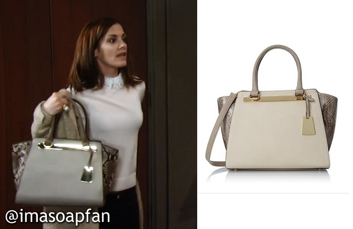 Hayden Barnes S Ivory And Snakeprint Handbag General Hospital Season 53 Episode 241 03 15 16