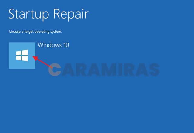 Memperbaiki Masalah Bootloader di Windows - target operating system