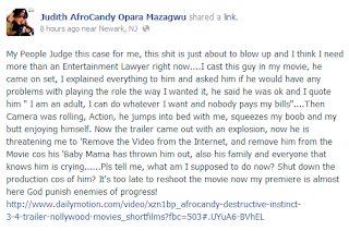 AFRO - The actor in Afrocandy's porn movie wants the movie removed online {via @naijacenter }