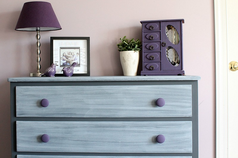 Chalk painted dresser and jewelry box