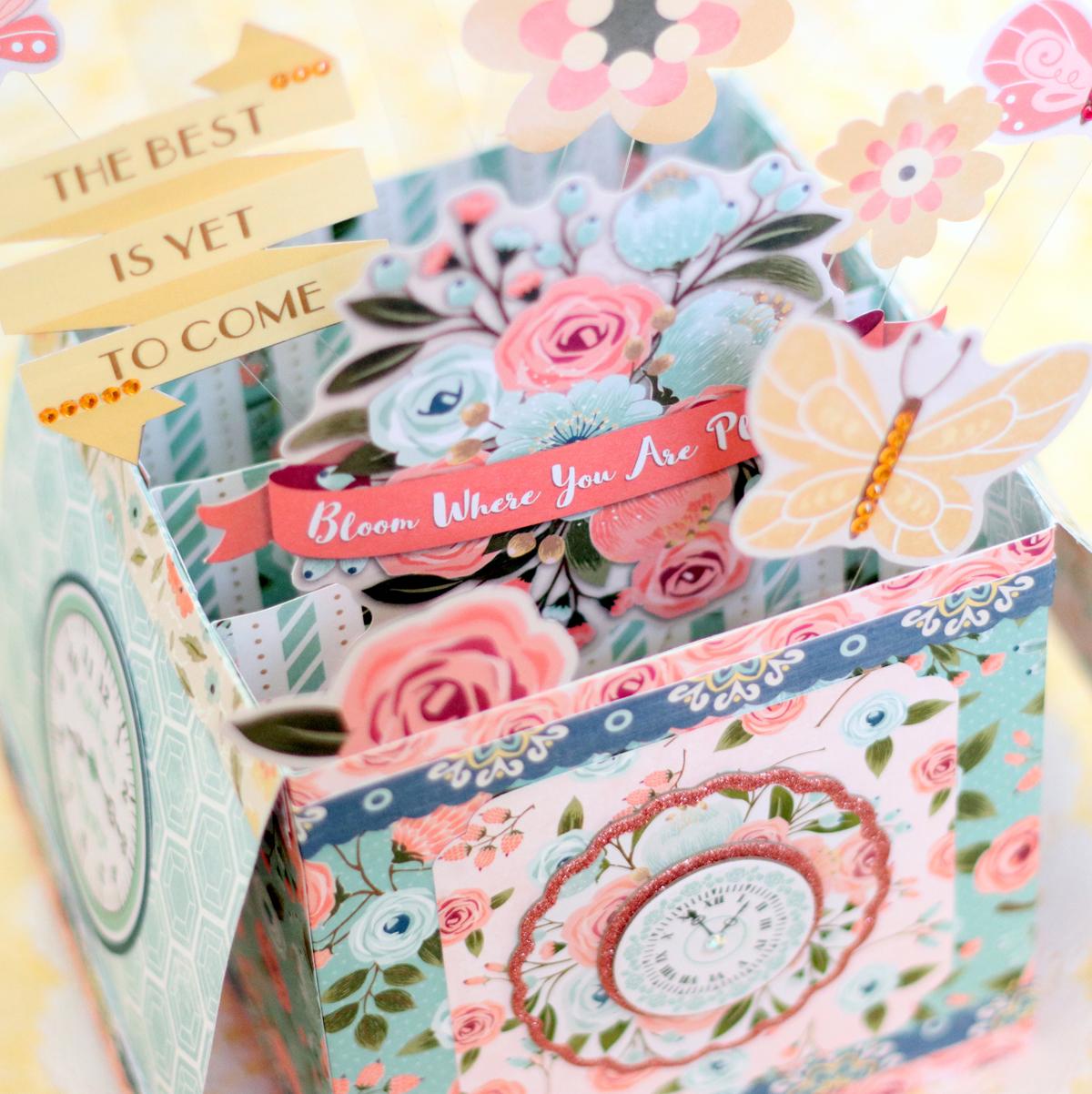 Early Bird Pop Up Card Box with Ayumi | Bo Bunny | Bloglovin\'