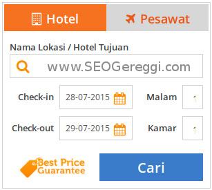 Widget Booking Tiket Hotel Pesawat PegiPegi.com