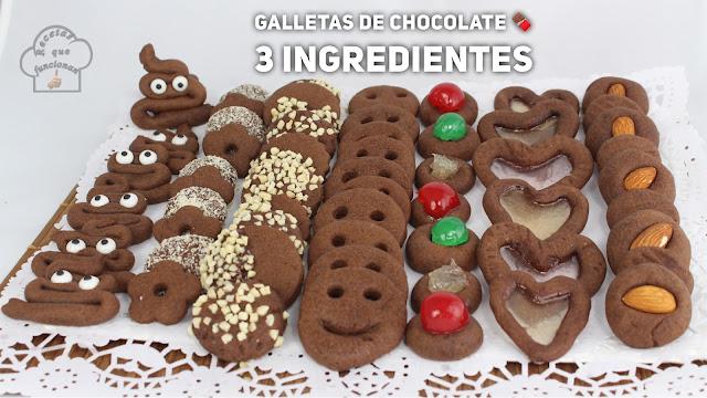 Receta de galletas de chocolate con solo 3 ingredientes