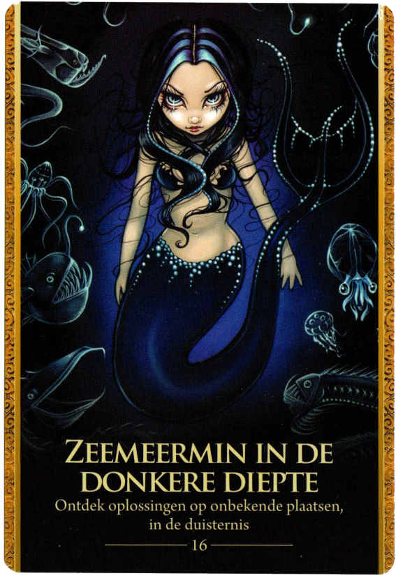 Oracle of the Shapeshifters Deep dark Sea Mermaid Jasmine Becket Griffith