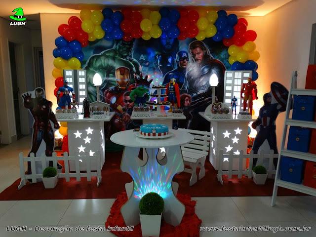 Decoração festa de aniversário infantil Os Vingadores - Decoração provençal