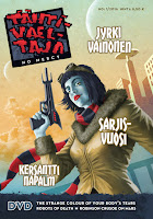 Cover of TV 1/2016 with blue-skinned pilot woman holding a futuristic handgun