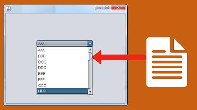 Fill JCombobox From Text File Using Java