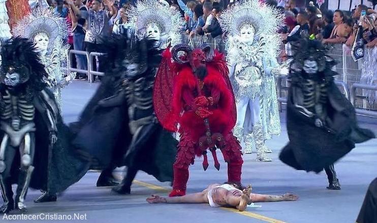 Representación de Satanás venciendo a Jesús