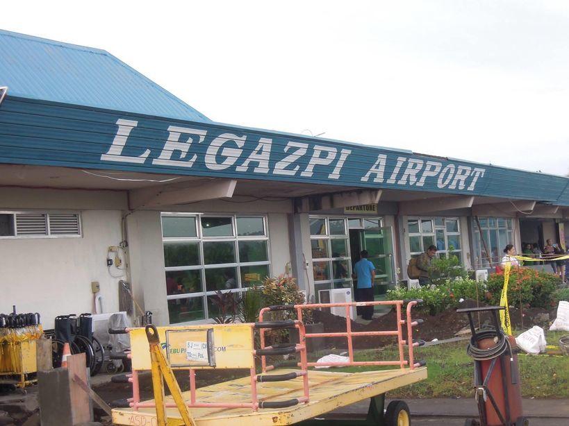 Outside Legazpi Domestic Airport in Albay