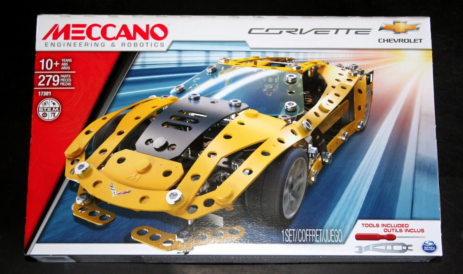 Meccano 6036477 Chevrolet Corvette Car Bakes Books And My Boys Relays Electronics In I Grew Up The World Of Lego Love Watching Kids Do Same However That We Have Is Decades Old So When Were Offered