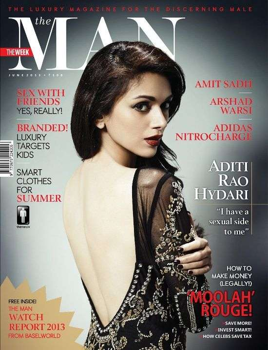 Aditi Rao Hydari Backless in The Man Magazine