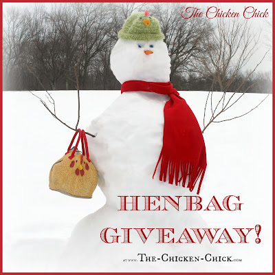 Henbag chicken purse GIVEAWAY at www.The-Chicken-Chick.com