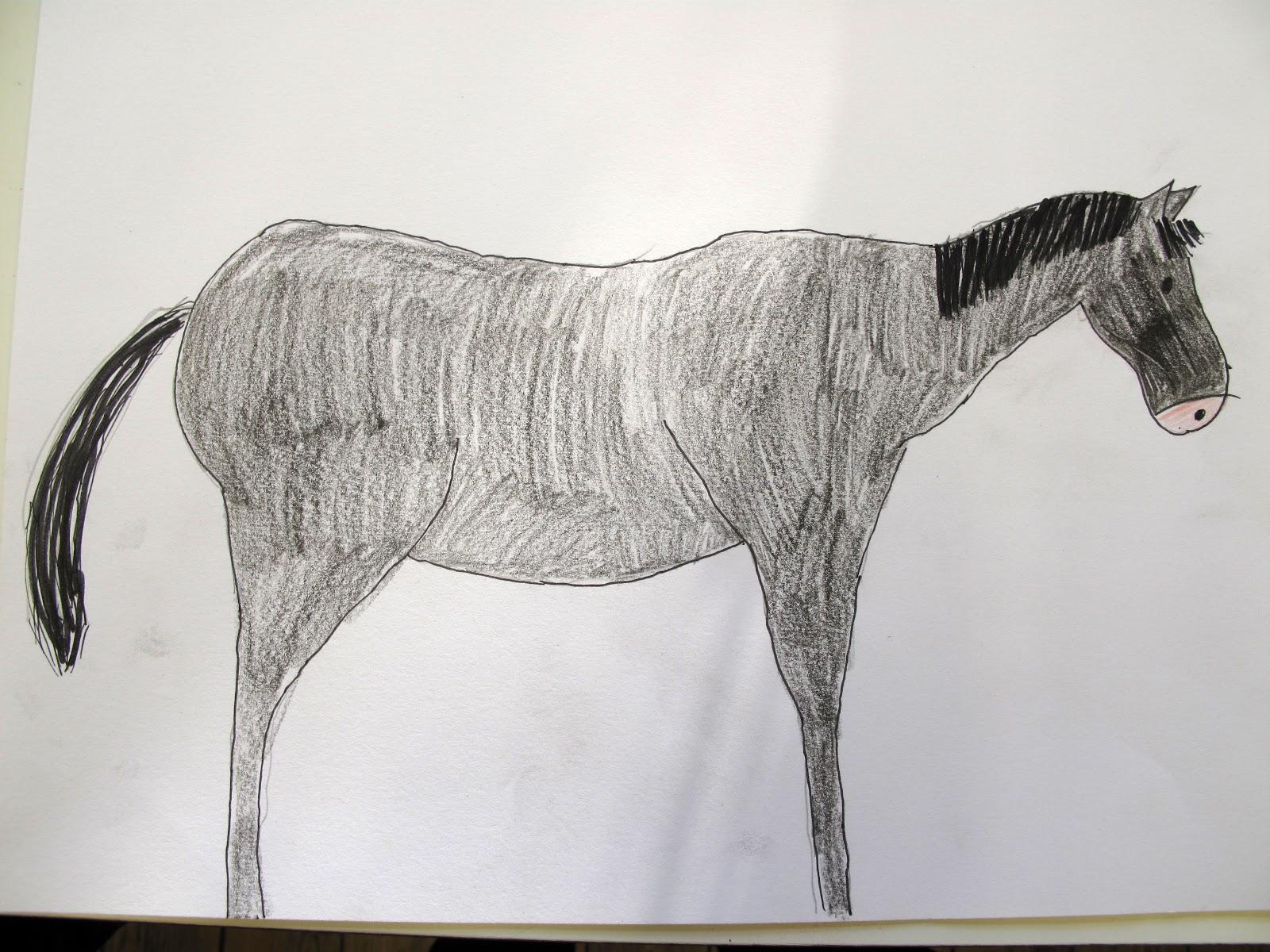 Favoriete de kinderacademie: paarden tekenen in de donderdagles &SM12