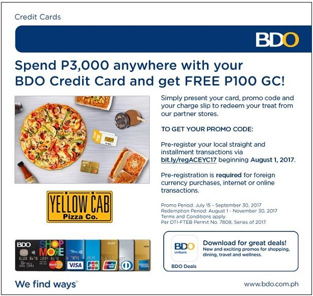 Manila Life: Shop. Choose. Redeem. with your BDO Credit Cards