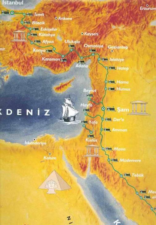1900 yılı istanbul hicaz hac güzergahı ile ilgili görsel sonucu