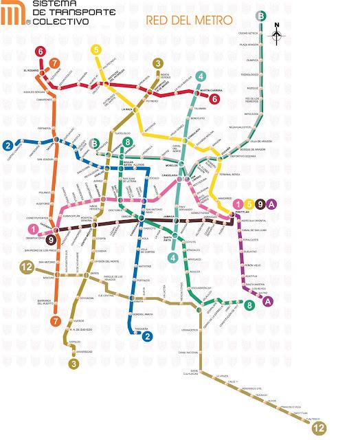 México subway map