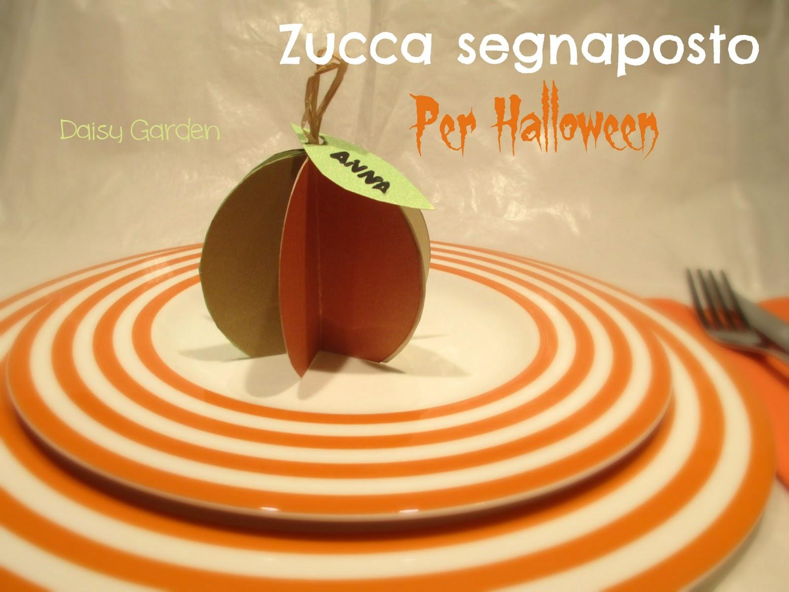 Addobbi Tavola Per Halloween daisy garden: zucca di carta segnaposto per halloween